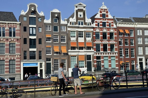 Historical buildings in Amsterdam