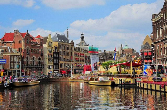 Colourful city of Amsterdam