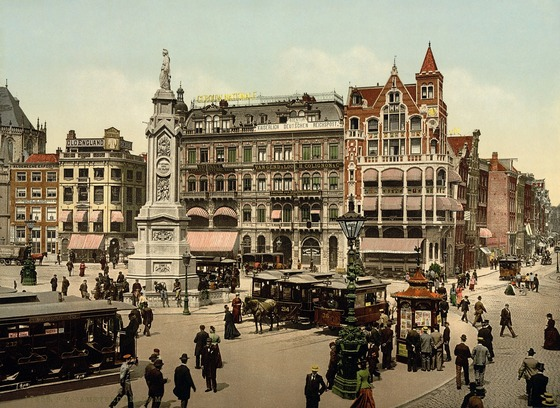 Vintage photo of Amsterdam square