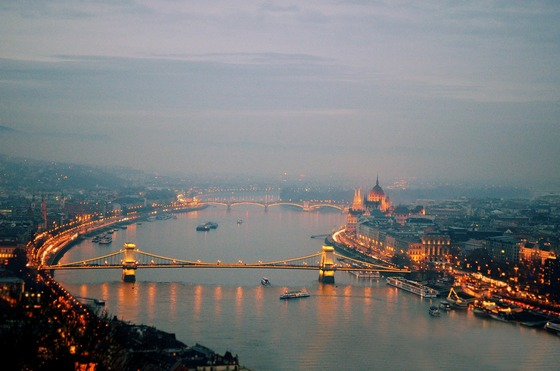 Budapest in early evening, Hungary