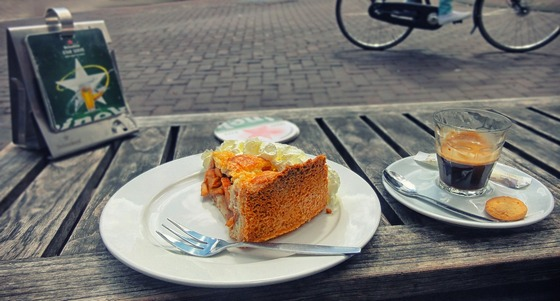 Cake and coffee in Amsterdam