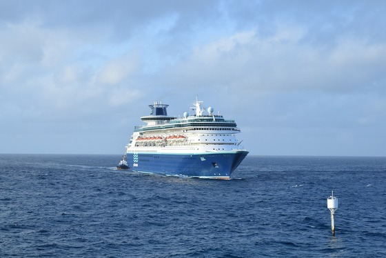 Cruise ship in the Caribbean