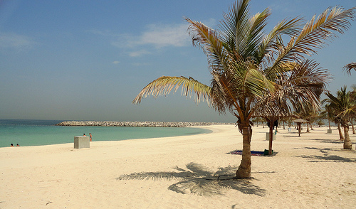 Al Mamzar beach in Dubai