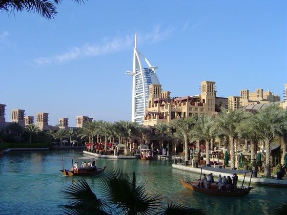 Resorts seen from Dubai creek