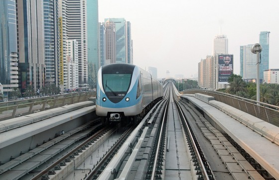 Metro rail in Dubai