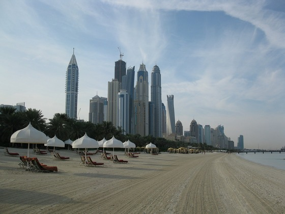 Tall buildings and hotels in Dubai