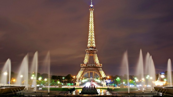 Eiffel Tower night lights