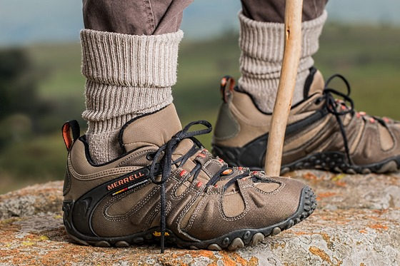 Sturdy shoes for hiking