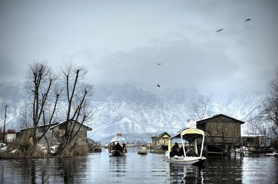 A winter scene in the Himalays