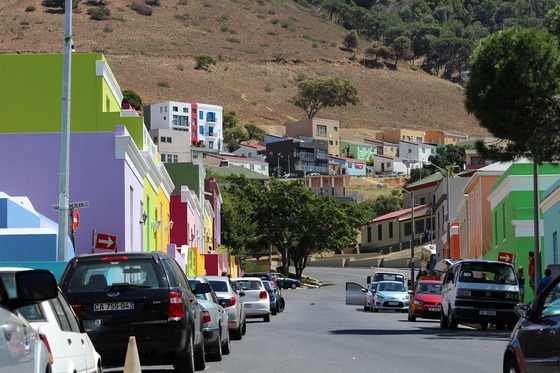 Colourful homes in Cape Town