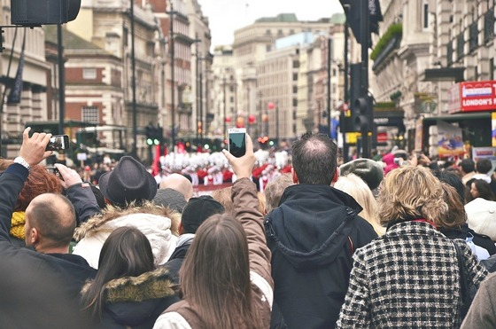 London city street celebrations