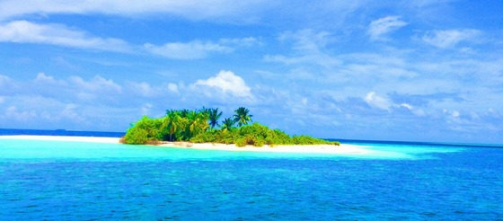 Small island in Maldives