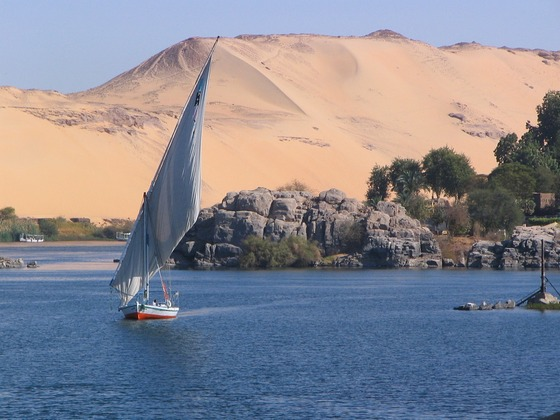 Sailing on Nile River
