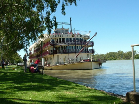 Paddle steamer boat on Murray River