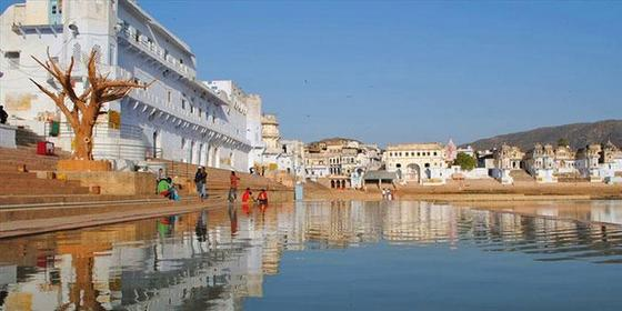 Pushkar Lake in Rajasthan, India