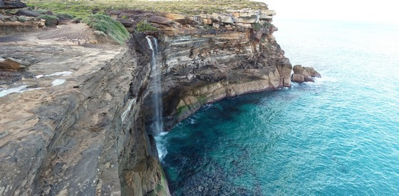 Ocean cliffs fall at Royal National Park