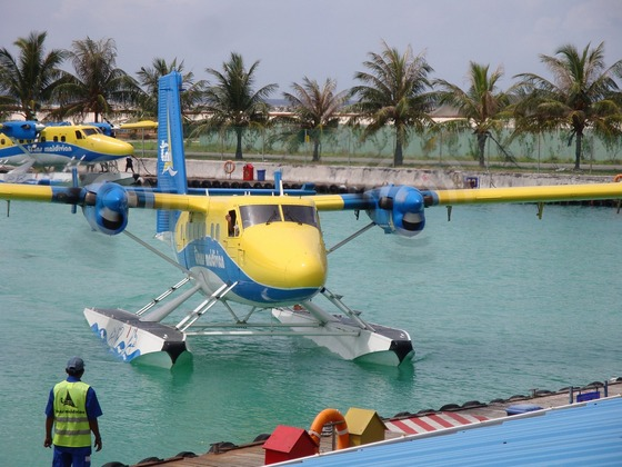 Seaplane island hopping in Maldives