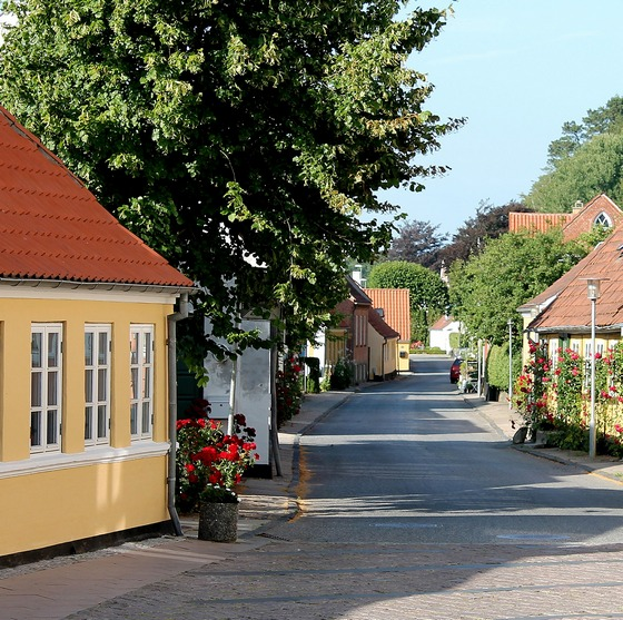 Small town street in Denmark