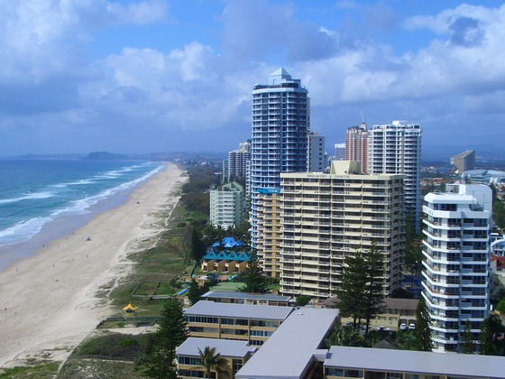 Surfers Paradise in Queensland, Australia