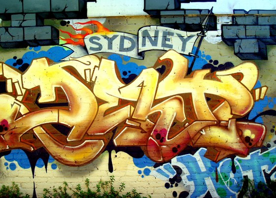 Street graffiti art in central Sydney