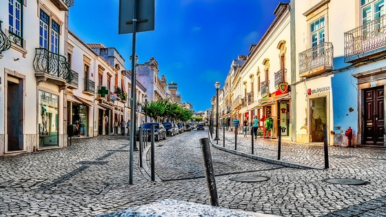 Tavira town in Algarve