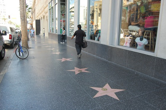 The Walk of Fame in LA