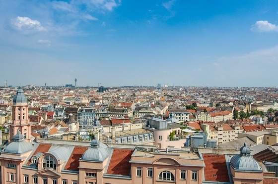Panoramic view of Vienna city