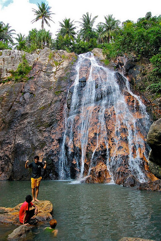 A waterfall in Koh Samui, Thailand