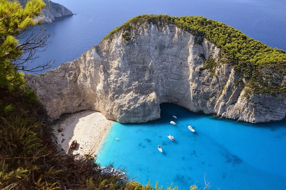 Picturesque Zakynthos island in Greece